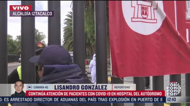 FOTO: 8 de agosto 2020, sigue dando atencion hospital en autodromo hermanos rodriguez
