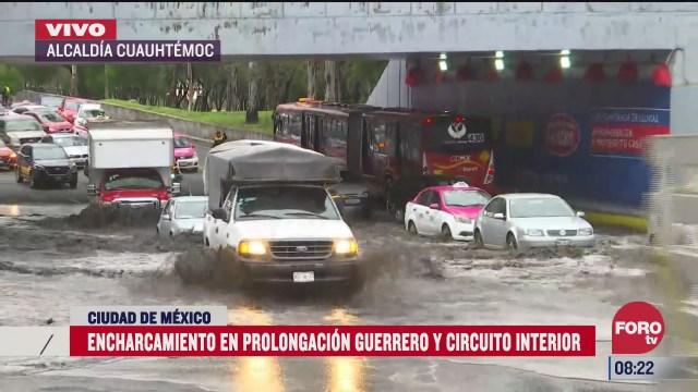 siguen trabajos de desazolve en avenidas afectadas por las lluvias en la cdmx