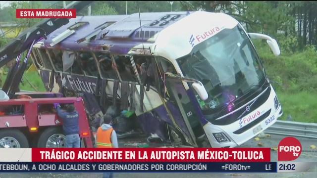 suman 15 muertos tras volcadura de autobus en la mexico toluca