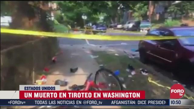 tiroteo deja un muerto y 20 heridos en washington eeuu