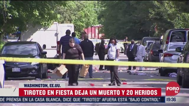 tiroteo en fiesta covid en washington, Estados Unidos, deja un muerto