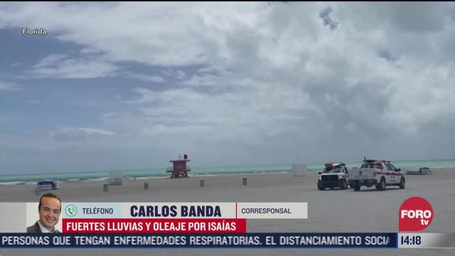 FOTO: 2 de agosto 2020, tormenta isaias permanece en costas de florida