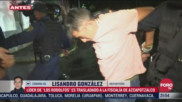 La Gorda o El Toledo lider de los rodolfos trasladado a fiscalia de azcapotzalco