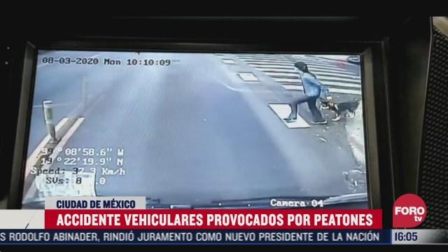 trolebus atropella a mujer que intenta cruzar una avenida sin fijarse