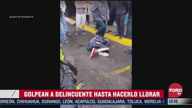 vecinos golpean a presunto ladron en el estado de mexico