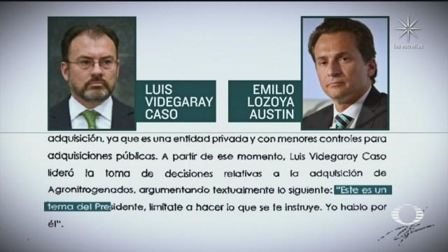 Luis Videgaray respode a la denuncia de Emilio Lozoya