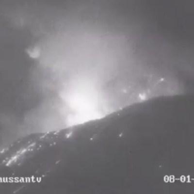 Volcán Popocatépetl incrementa su actividad explosiva la noche del sábado