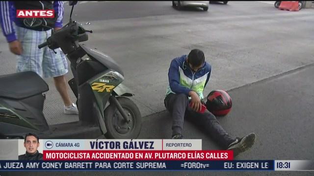 accidente deja a motociclista lesionado en la colonia santa anita