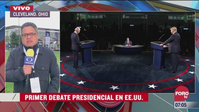 Primer debate presidencial en Estados Unidos