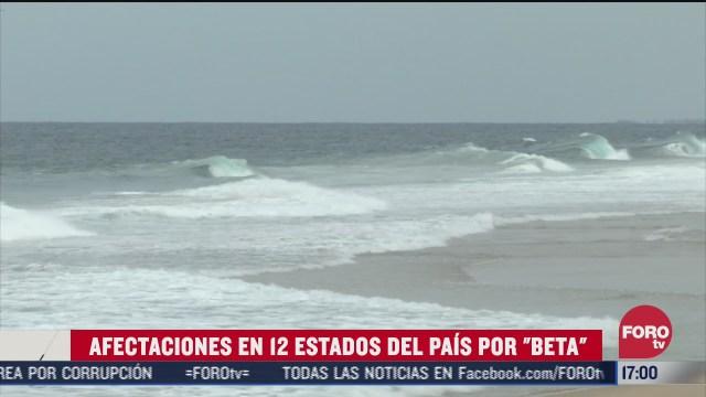 al menos 12 estados afectados por tormenta tropical beta