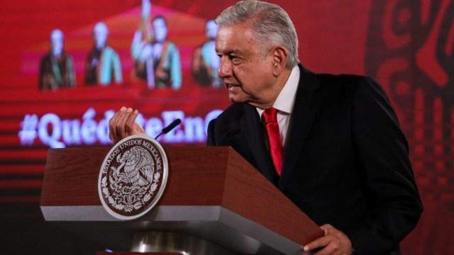 Andrés Manuel López Obrador, presidente de México, durante su conferencia matutina en Palacio Nacional. (Foto: Cuartoscuro)