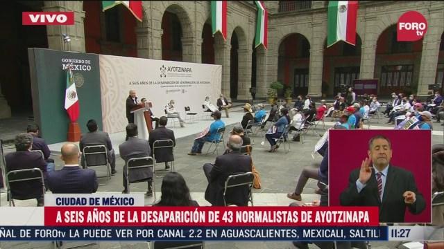 amlo reafirma su compromiso de esclarecer el caso ayotzinapa