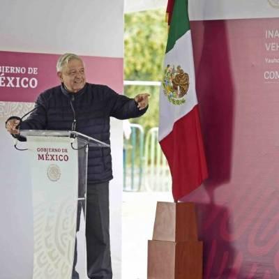 De gira por Tlaxcala, el presidente Andrés Manuel López Obrador recordó a las víctimas de los sismos del 19 de septiembre