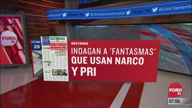 analisis de las portadas nacionales e internacionales del 29 de septiembre del