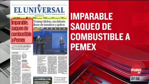 analisis de las portadas nacionales e internacionales del 30 de septiembre del