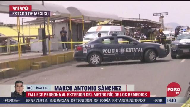 asesinan a hombre afuera del metro rios de los remedios