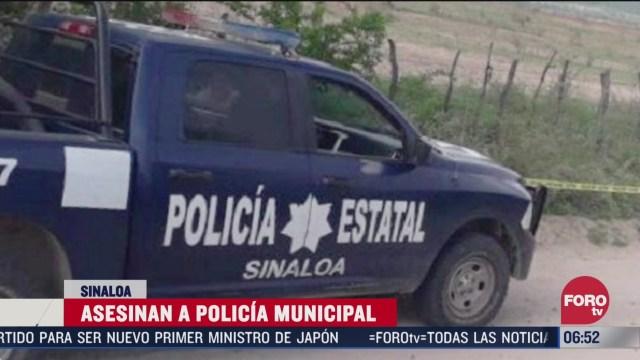 asesinan a policia municipal en choix sinaloa