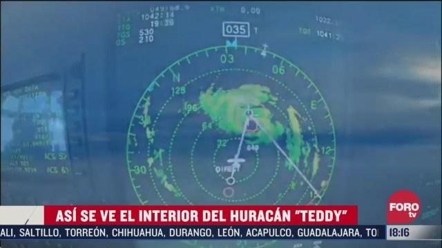 asi se ve el interior del huracan teddy