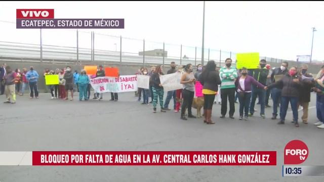 bloquean por falta de agua en avenida central ecatepec