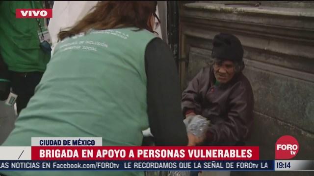 brigadas apoyan a personas vulnerables en la cdmx