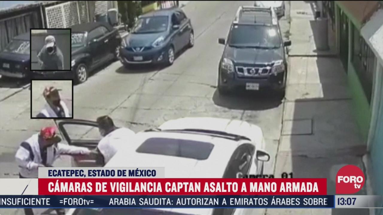 camaras de vigilancia graban asalto con violencia en ecatepec edomex