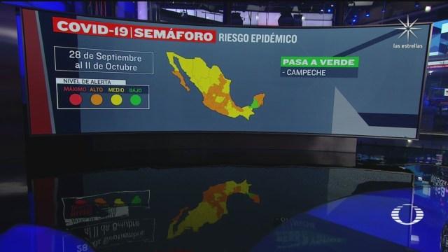 Campeche, primera entidad en 'semáforo covid' color verde