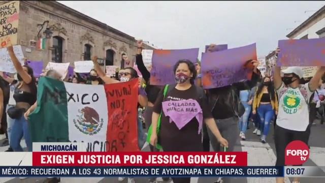 cientos de mujeres exigen justicia por feminicidio de jessica gonzalez en morelia