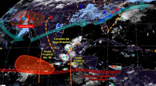 Mapa que muestra los sistemas meteorológicos del domingo 26 de septiembre.