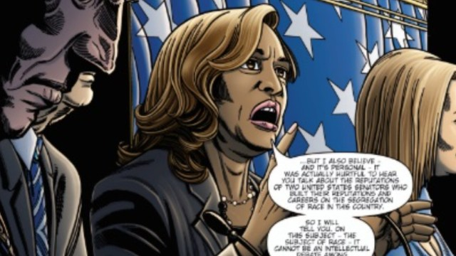 Cómic de Kamala Harris, candidata demócrata 2020