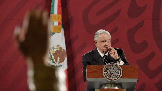 El presidente de México, Andrés Manuel López Obrador, en conferencia de prensa matutina.