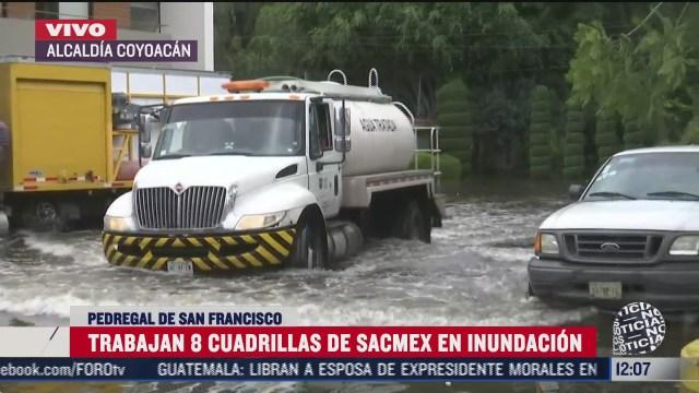 continuan trabajos tras inundaciones en coyoacan