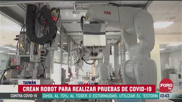 crean robot para realizar pruebas de covid 19 en taiwan