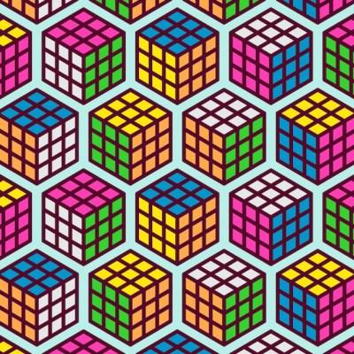 Reto visual: Encuentra tres cubos Rubik mal armados
