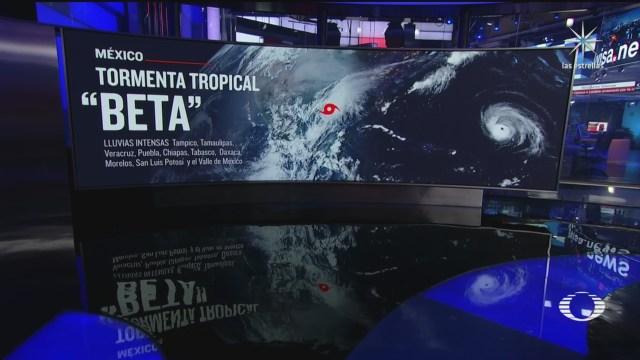 depresion tropical 22 se intensifico a tormenta beta en el golfo de mexico