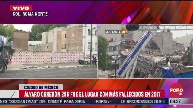 derrumbe de edificio en alvaro obregon en sismo 19s provoco muerte de 49 personas