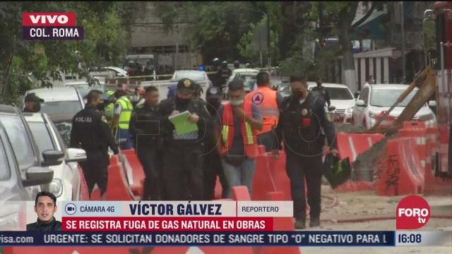 desalojan a 200 personas tras fuga de gas natural en la colonia roma