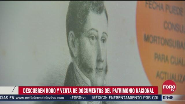 descubren venta y robo de documentos historicos mexicanos