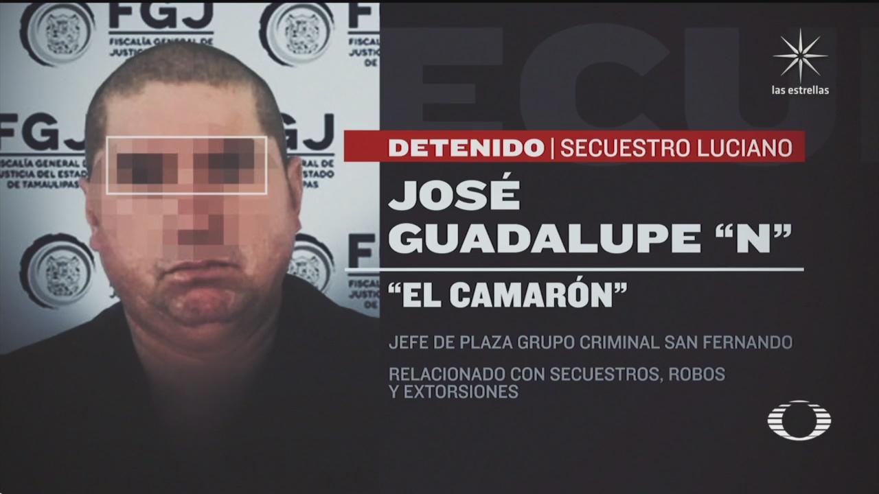 detienen a el camaron presunto secuestrador de luciano leal en tamaulipas