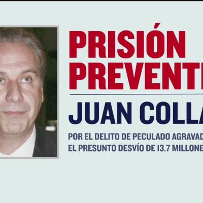 Dictan prisión preventiva contra el abogado Juan Collado