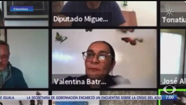 diputada de morena pone foto en sesion virtual para simular su presencia