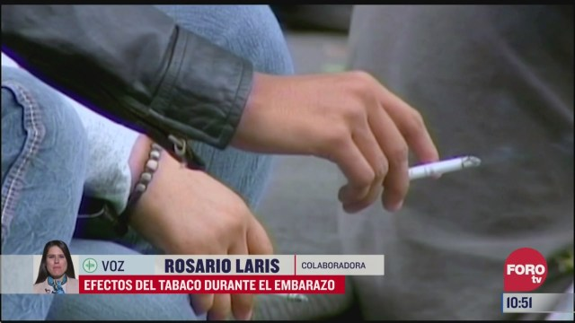 efectos del tabaco durante el embarazo