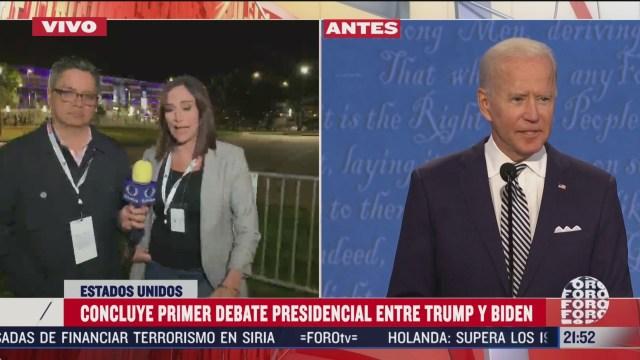 el analisis del debate presidencial entre biden y trump