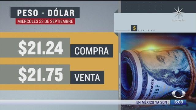el dolar se vendio en 21 71 en la cdmx 23 septiembre