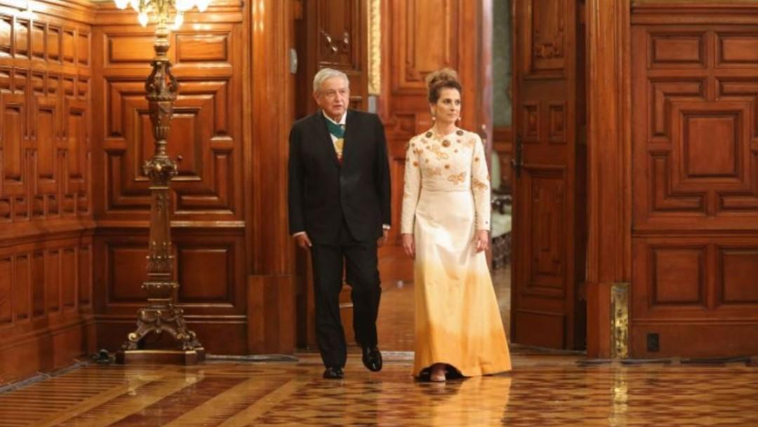 El presidente López Obrador y su esposa Beatriz Gutiérrez Muller