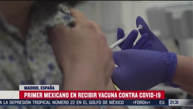 primer mexicano en recibir vacuna de covid