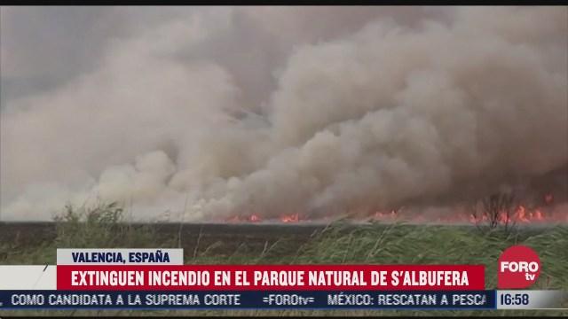 extinguen incendio en parque de espana