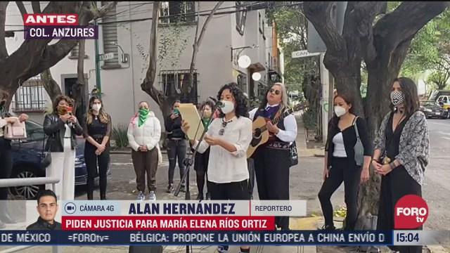 feministas exigen justicia para maria elena rios ortiz