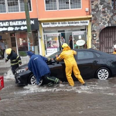 Fuertes lluvias causan afectaciones en Morelos, Oaxaca y Valle de México