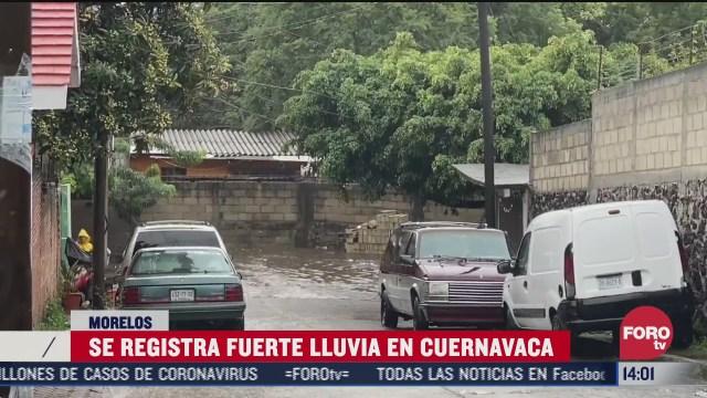 fuertes lluvias dejan inundaciones en cuernavaca