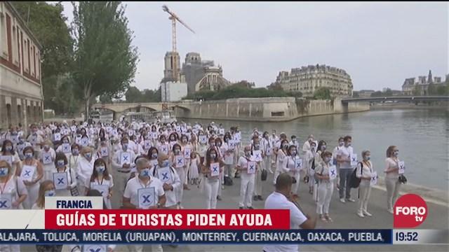 guias turisticos en francia organizan protesta